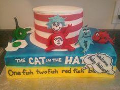 Cat in the Hat baby shower   www.cakesbynikkihiggins.com