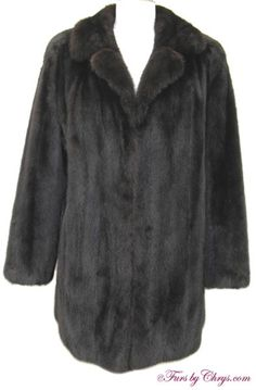 Ranch Mink Jacket #RM741; $1500.00; Excellent Condition; Size range: 8 - 12. This is a beautiful genuine ranch mink fur jacket. It features a notched collar, straight sleeves and lightly padded shoulders. A copy of a recent appraisal which shows the present retail value to be $7500 will be included with your purchase. This is a very high quality ranch mink jacket that will take you from everyday errands to the most formal events in style! You will feel as gorgeous as you look when you wear it!