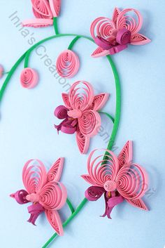 Paper quilling orchid, detail by Inna's Creations, via Flickr