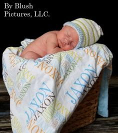 Personalized Name Minky baby Blanket by PETUNIAS by PETUNIAS. $72.50, via Etsy.