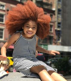 Happy Friday 😁 #nyc #smile #happy #naturalhair #cutie #redhair #ginger #redlilmissy #zara #childhood #afro #melanin #romper #fashionkids #style #mood #ootd @zarakidsofficial @zara