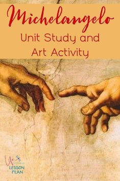 Michelangelo was one of the three great masters of the Italian Renaissance. Learn more about him with a free art history lesson and hands-on activity! #art #arthistory #Michelangelo #homeschool
