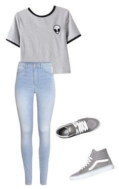 """""""casual day outfit"""" by amberealexander ❤ liked on Polyvore featuring Chicnova Fashion, H&M and Vans"""