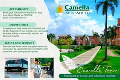 Rising as a prime township in the first-class municipality of Cavite, Camella Tanza is a haven fusing urban luxuries and suburban comfort. Invest now and discover a rewarding life within your hometown!  Reserve your Dani home here with Lax and Lite, and ease your payment from P59,000 to P29,500 monthly! Safety And Security, Place Of Worship, Manila, The Outsiders, Investing, Community, Posts, Urban, Places