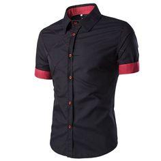 Men Casual Shirt Slim Fit Lattice Design. 50% OFF till June 12. CODE: eom sale