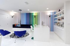 Colorful and ultra-modern inspiration for the small, futuristic home!