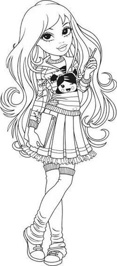 Coloring Pages Anime Girl Elegant 254 Best Anime Lineart Images Star Coloring Pages, Coloring Pages For Girls, Coloring For Kids, Printable Coloring Pages, Coloring Books, Colorful Drawings, Colorful Pictures, Mandala, Digi Stamps