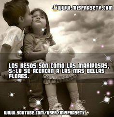 Postales y carteles con Frases de Besos visitanos a nuestro portal Web Misfrasetv.com
