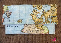 ΦούΞια ΞιΦίας Clutch Bag, Vintage World Maps, Bags, Handbags, Clutch Bags, Taschen, Purse, Purses, Clutches