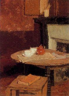 Intriguing interior Gwen John- the tea pot - 1915-16