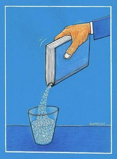 Cool off with reading / Refréscate con la lectura (ilustración de Ercan Baysal)