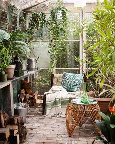 Vivre toute l'année dans la nature, c'est possible! Décorez votre maison avec des plantes tropicales, des meubles en rotin et du bois recyclé et créez votre propre jardin chez vous.