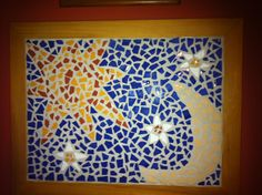 One of the first mosaics I ever made... with my sister Jill using broken tiles ... probably mexican found in Arizona.