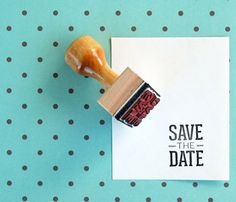 Save the Date Stamp.  I didn't go this route, but I can see how this could be used if the person was a DIY'er or really creative!