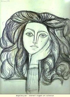 Pablo Picasso. Portrait of Françoise. 1946. Drawing. Musée Picasso, Paris, France (from Olga's Gallery)