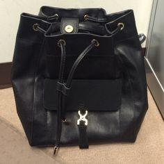 Zara Basic Drawstring Backpack Brand new!! Drawstring and snap closure with a small front pocket. Zara Bags Backpacks