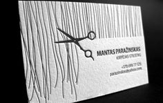 letterpress business card for hair stylist  620x392 Unique Letterpress Business Cards