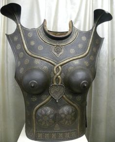 1900's Indo Persian Indian Lady Warrior Chest Plate
