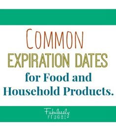 Understanding expiration dates and the usual shelf life of common products.