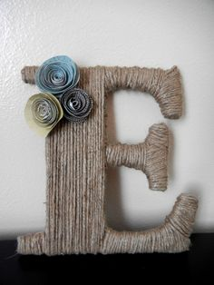 Twine wrapped letter. $15.00, via Etsy.