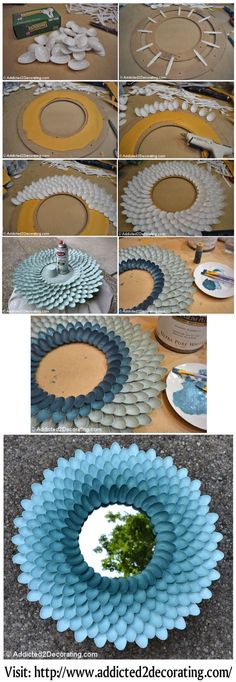 VISIT: http://www.addicted2decorating.com/how-to-make-a-decorative-chrysanthemum-mirror.html