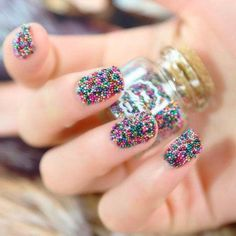 These nails are fun and playful and VERY colorful!