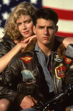 'Top Gun'. Tom Cruise 'Maverick', Kelly McGillis 'Charlie'