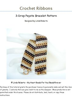 3 drop peyote stitch bracelet