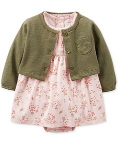 Carter's Baby Girls' 2-Piece Dress  Cardigan Set