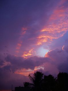 Coral and purple Clouds