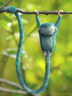 The Blue Monkey by Thales Simonato, via Behance -Love this!