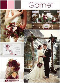 Burgundy wedding inspiration and ideas (get a free personalized sample of the featured wedding invitation)