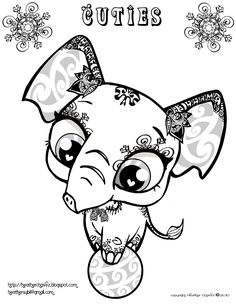 Creative Cuties: elephant coloring page