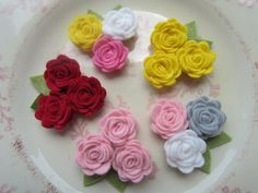 Felt Flower Headband - Create Your Own- Bouquet of Roses - You Pick Felt Flower and Elastic Colors  Newborn baby to Adult. $6.50, via Etsy.