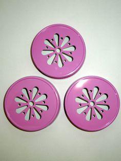 SALE! PINK Mason Jar Lids Daisy Flower Cut Jar Lid Daisy Lid Rustic Wedding Mason Jar Lid Paper Straws Candle Jars Lids, Barn Wedding From (5) $3.79+