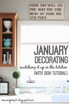 How to make signs for your home!!