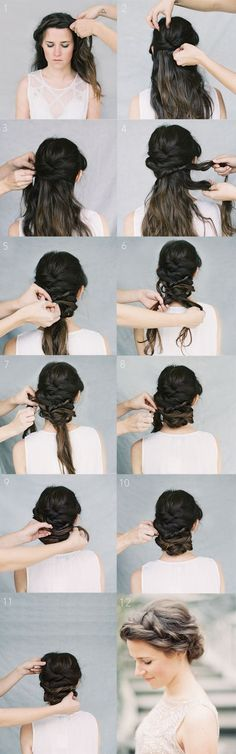 A tutorial for a gorgeous crown braid #Braid Hair| http://braid-hair-style-752.blogspot.com