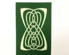 Keltische Kunst Poster Print Drachen Art Wall von TigerHouseArt