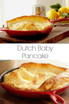 Learn how to make a Dutch Baby Pancake Recipe a classic weekend treat! Perfect a… Learn how to make a Dutch Baby Pancake Recipe a classic weekend treat! Perfect as a Brunch Recipe or for Christmas Morning Breakfast. Dutch Pancakes, Dutch Baby Pancake, Baby Pancakes, Mini German Pancakes, Kodiak Pancakes, German Pancakes Recipe, Oven Pancakes, Pancakes Easy, Dutch Oven Desserts