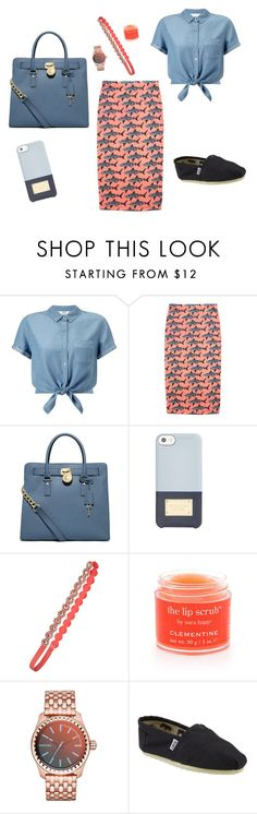 """""""Sharks"""" by mikaylaxxrayann ❤ liked on Polyvore featuring Miss Selfridge, Melody Ehsani, Michael Kors, maurices, Sara Happ, Diesel and TOMS"""