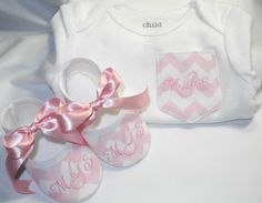 Chevron Pocket Tee Monogrammed Baby Shoes by KayLaneSisters Applique Monogram, Baby Monogram, Chevron Pocket, Cute Babies, Baby Kids, Nikki Baby, Baby Girl Shoes, Girls Shoes, Cute Baby Clothes