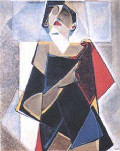 Vrouw-compositie by Vilmos Huszar