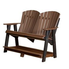 Little Cottage Company Heritage Double High Adirondack Chair Finish: Red/Black
