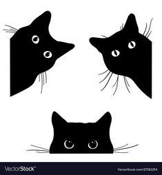 Set of black cats looking out of the corner. Collection of cat faces that spy on you. — Kup tę grafikę wektorową bez tantiem i przeszukaj podobne prace w serwisie Adobe Stock Spiderman Black Cat, Black Cat Marvel, Black Cat Drawing, Black Cat Painting, Black Cat Face Paint, Cat Face Drawing, Drawing Art, Black Cat Anime, Black Cat Tattoos