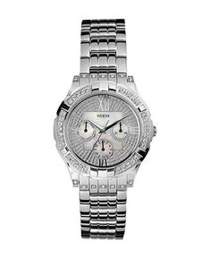 $125 GUESS Watch, Women's Stainless Steel Bracelet 39mm G12579L - Guess - Jewelry & Watches - Macy's