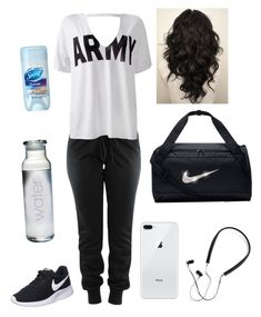 workout by krmoore1180 on Polyvore featuring polyvore fashion style Sans Souci NIKE Polaroid Susquehanna Glass clothing