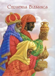 Christmas Blessings Three Wise Men - Afrocentric Christmas Cards by: Carole Joy Creations Black Christmas, African Christmas, Merry Christmas, Christmas Blessings, Christmas Nativity, Vintage Christmas Cards, Christmas Pictures, Xmas Cards, Christmas Greetings