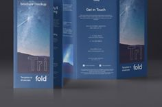 This is front and back view of our series of brochure psd tri-fold mockup template compatible with A4 and US letter...