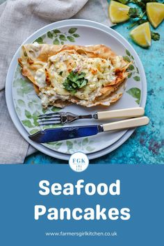 Seafood Pancakes are easy to make and packed with delicious flavours. A recipe for simple crepe-style pancakes filled with a creamy seafood sauce. #pancakes #fish #seafood #shellfish #prawns #scampi #easy #recipe Recipe Using Salmon, Quick Salmon Recipes, Fish Recipes, Seafood Recipes, Easy Dinner Recipes, Burns Supper, Quick Easy Meals, Easy Dinners, Frozen Seafood