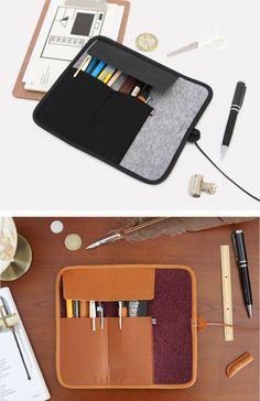 Image of The basic felt roll pencil case v2